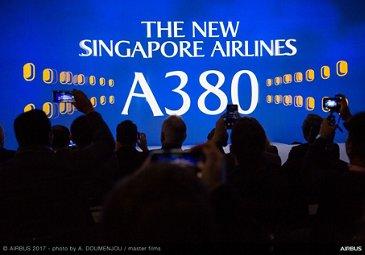 新航A380交付仪式
