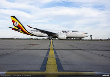 A330neo Uganda Airlines On Ground