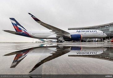 A350-900 Aeroflot On Ground
