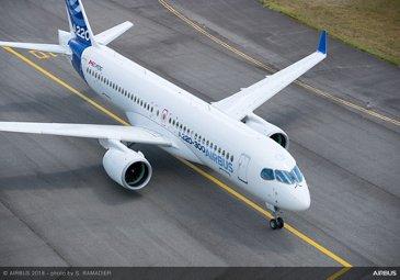 Airbus A220-300 Landing
