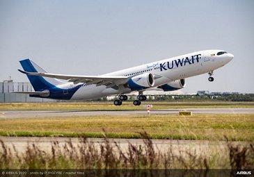 First A330-800 Kuwait Airways First Flight