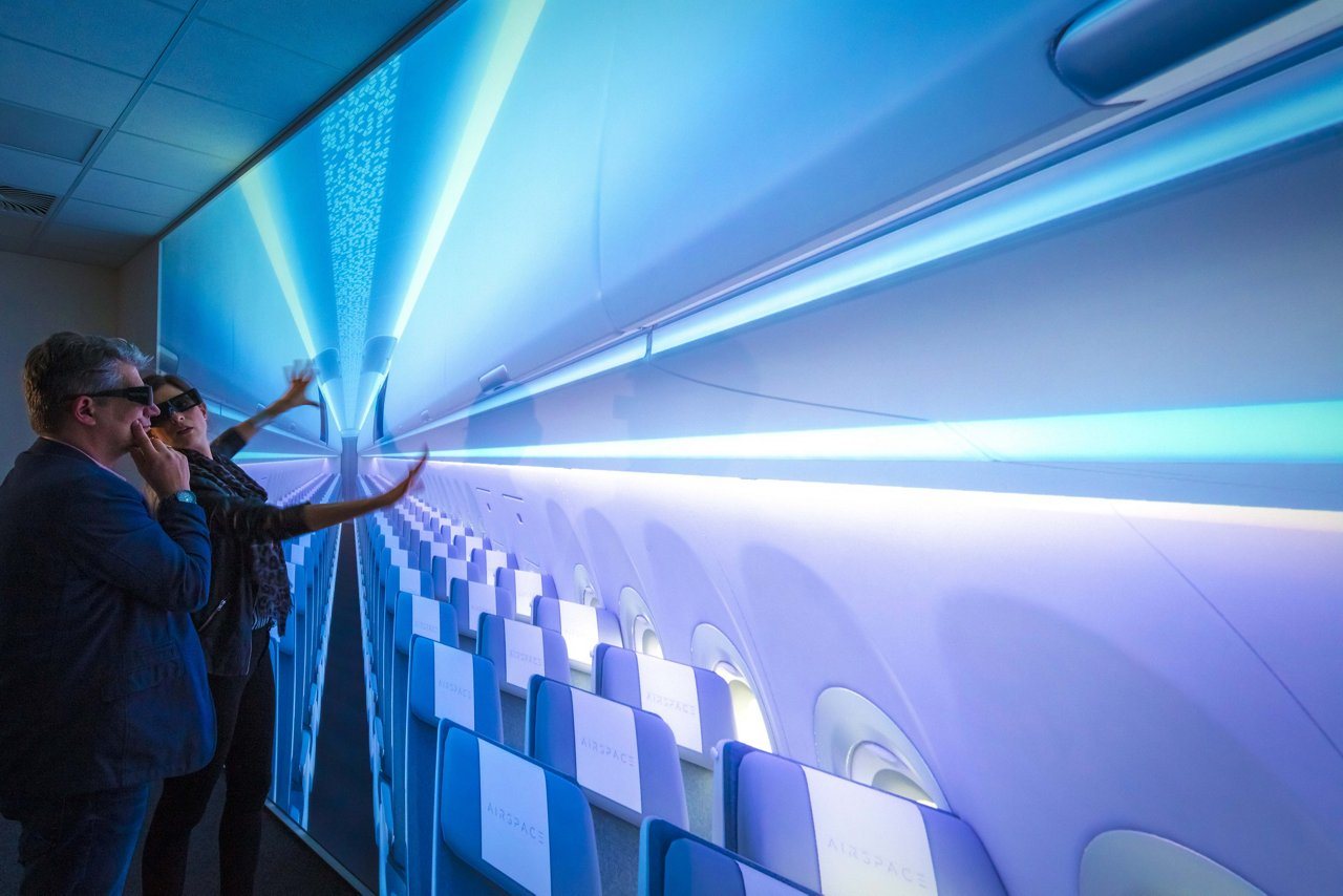 """With the extension of Airbus' Airspace Customer Definition Centre (CDC), this Hamburg, Germany facility now fully adopts the company's """"Airspace"""" cabin brand"""