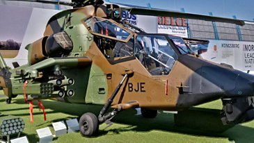 Airbus' multi-role attack helicopter, the Tiger HAD at MSPO in Kielce, Poland