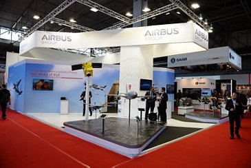 Airbus booth at the 2015 MSPO edition in Kielce, Poland