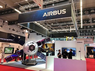 Airbus booth at the International Astronautical Congress 2018 edition