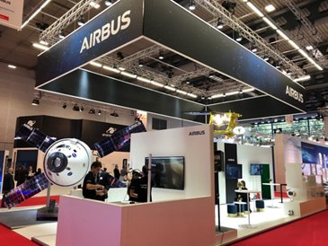 Airbus booth during the 69th International Astronautical Congress