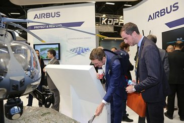 Milipol 2019 Airbus Booth - Visitors