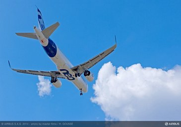 A320neo first flight air to air 5