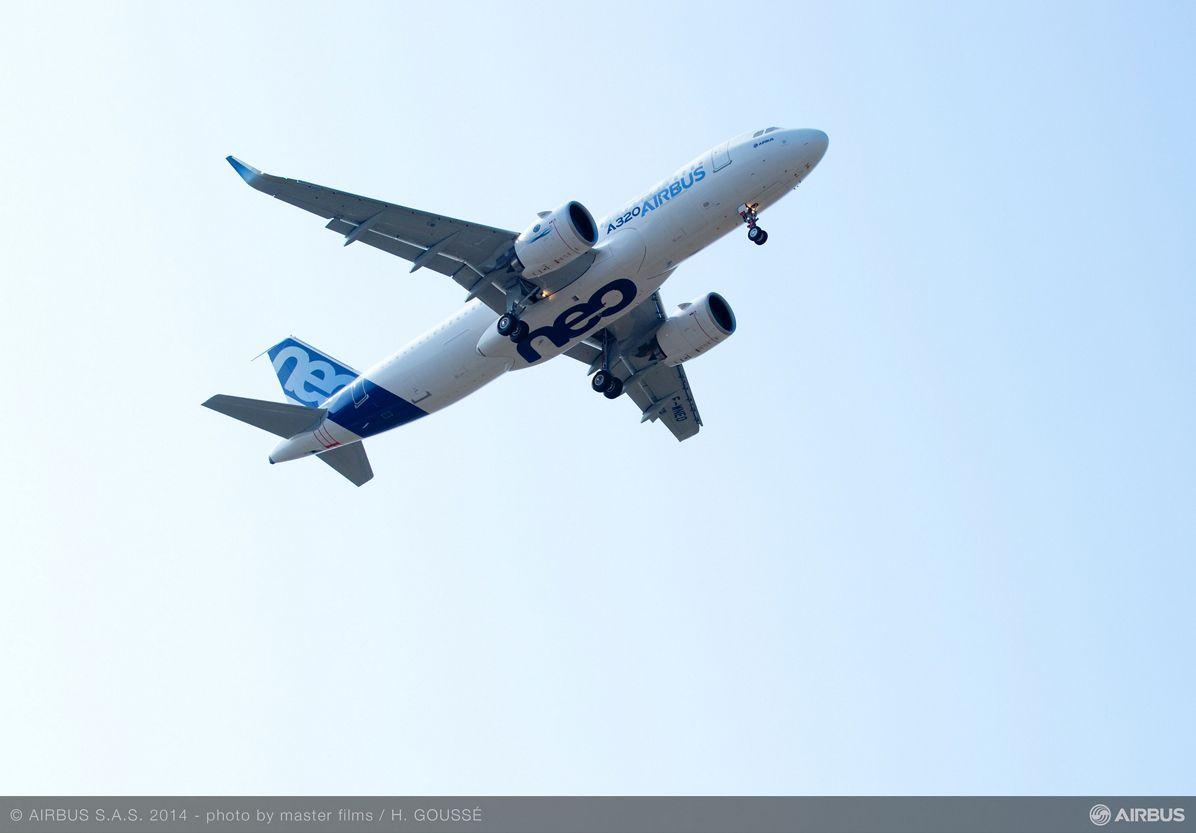 A320neo first flight takeoff 12