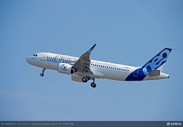 A320neo first flight take off 10