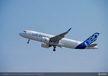 A320neo first flight takeoff 2