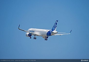 A320neo first flight takeoff 4