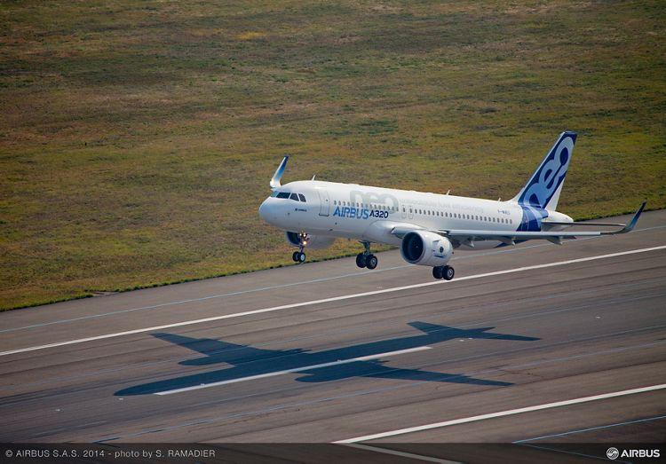 A320neo first flight takeoff 5