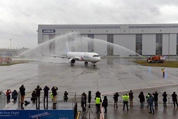 A321LR first-flight crew