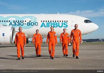 A330-800 flight test crew