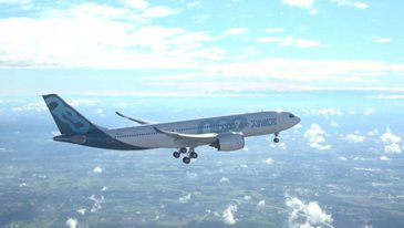 A330-800 Airbus in flight - First Flight