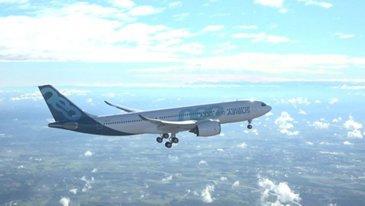 A330-800 Airbus in flight - First Flight