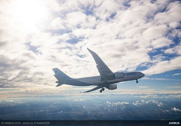 Airbus A330-800 first flight – air-to-air