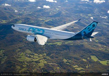 Airbus A330-800 first flight – airborne