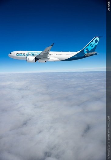 A330-800's first flight