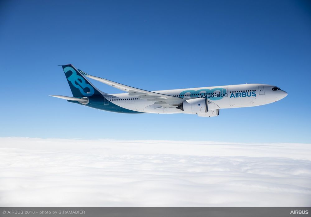 Airbus' A330-800 takes to the skies for the first time