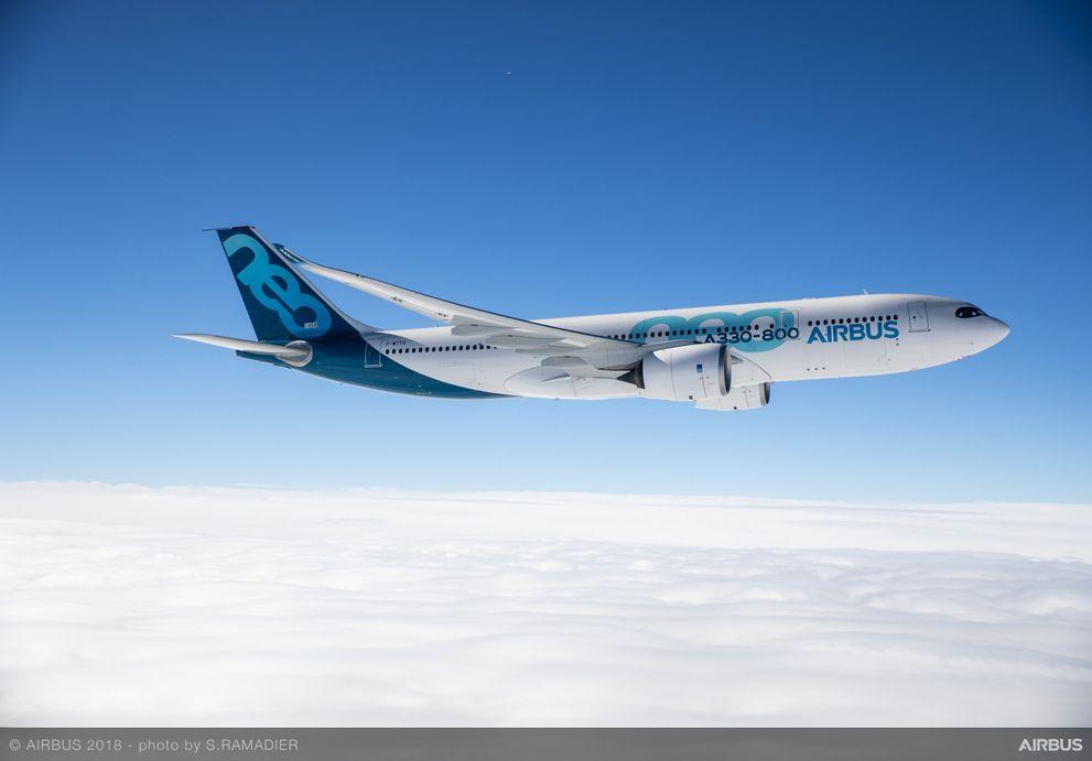 A330-800 Airbus MSN1888 First Flight - Air To Air