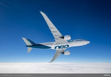 The A330-800 takes its first flight