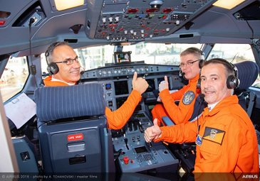 Airbus A330-800 first flight - crew