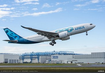 Airbus A330-800 first flight – take off