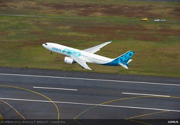 A330-800 taking off for its maiden flight