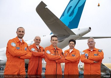 A330neo new MTOW first flight – Crew