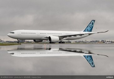 A330-900 Airbus MSN1967 251 Tonnes First Flight - taxiing