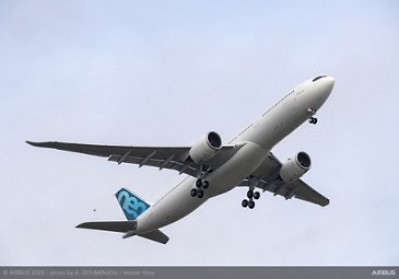 A330-900 new MTOW first flight – Take-off from Toulouse