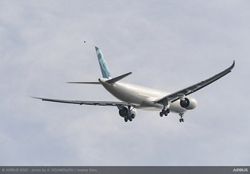 A330-900 new MTOW first flight – In flight