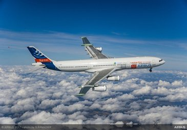 A340 laminar flow BLADE demonstrator first flight - in flight