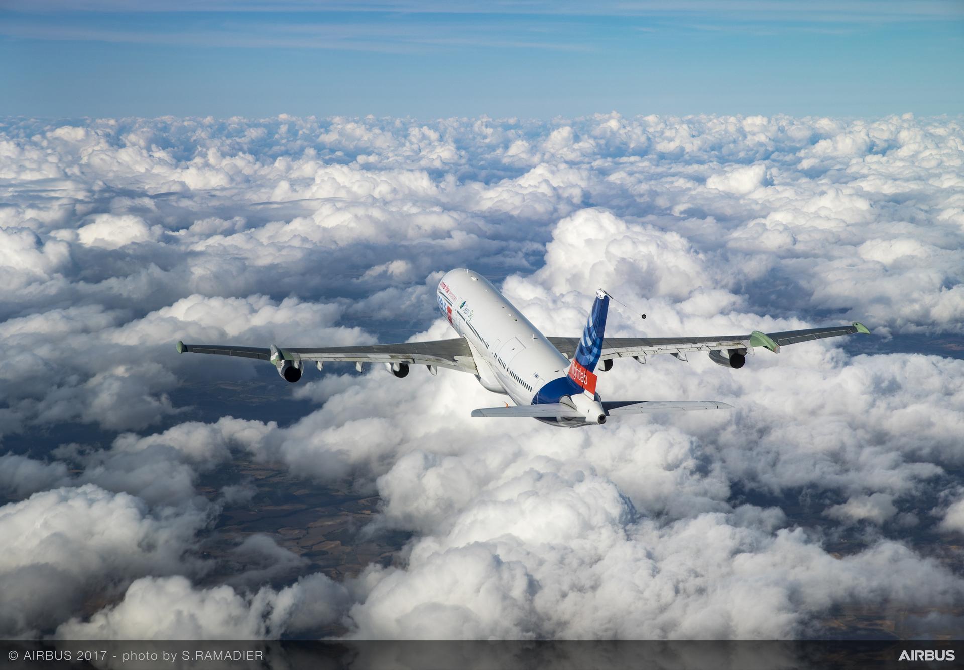 Foto A-340 programma BLADE Credits: Airbus (S. Ramadier)