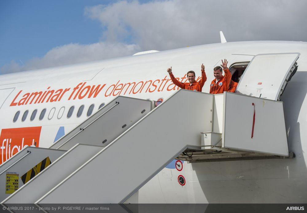 A340 Laminar Flow BLADE Demonstrator First Flight - Arrival
