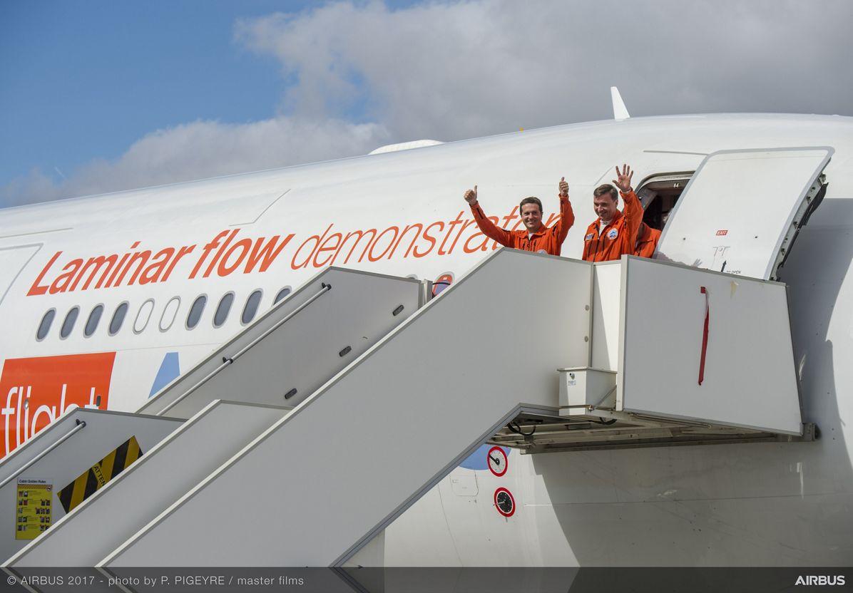 A340 Laminar Flow BLADE Demonstrator First Flight - Arrival