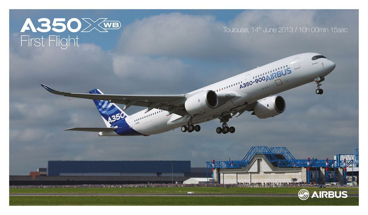 A350 FF poster, A350 XWB First Flight poster