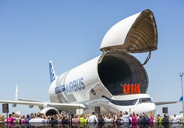 BelugaXL first flight - arrival