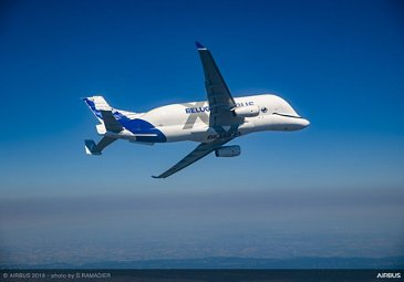 BelugaXL First Flight - In Flight