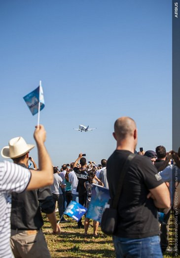 BelugaXL First Flight Fan Zone Ambiance