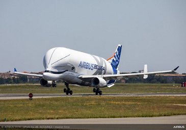 BelugaXL First Flight Landing