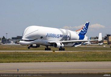 BelugaXL First Flight Landing