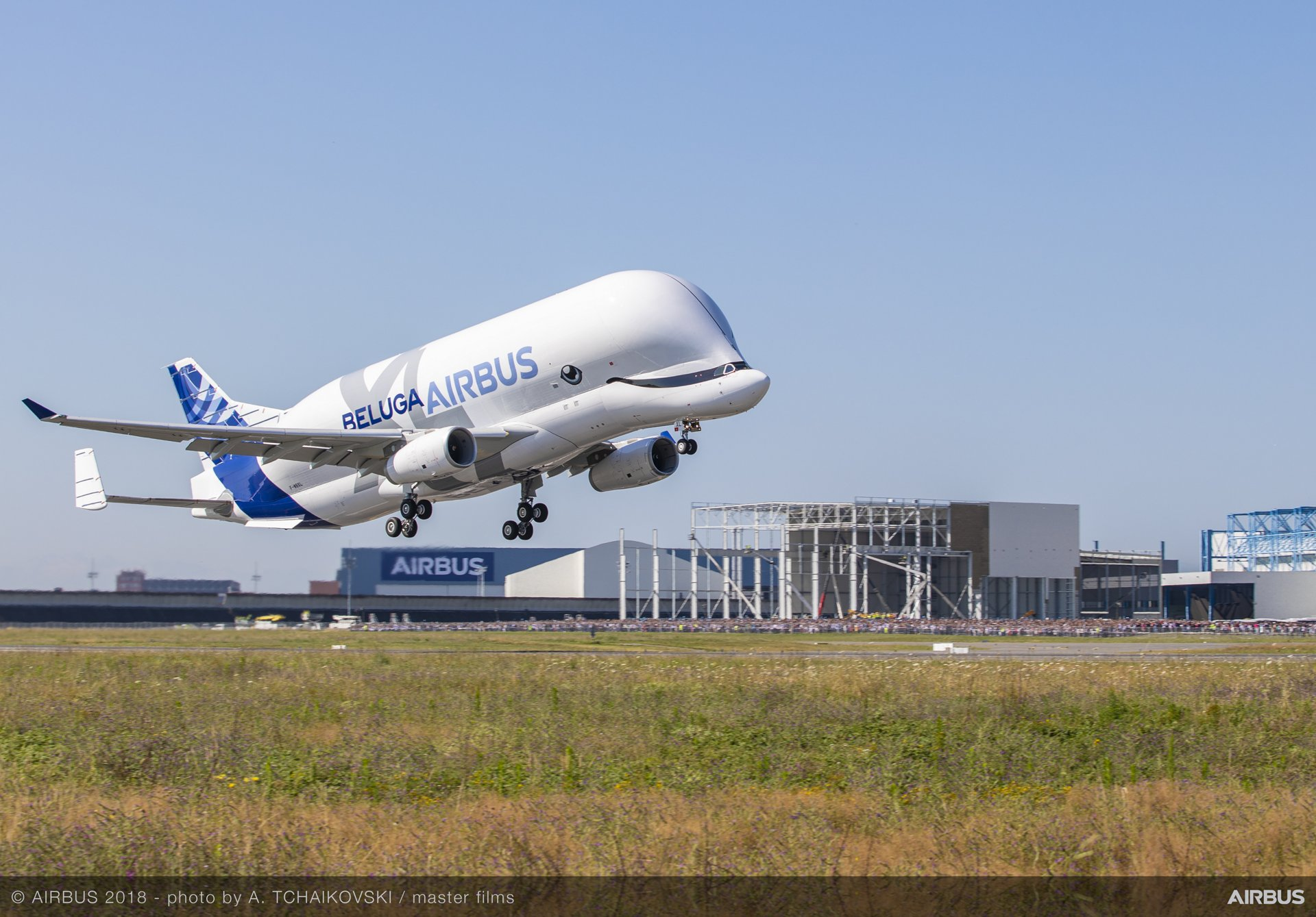 BelugaXL First Flight Take Off