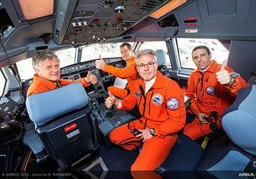 Maiden flight of AG真人计划鈥� second BelugaXL 鈥� Crew