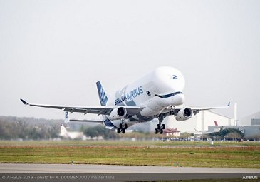 First take-off of Airbus' second BelugaXL