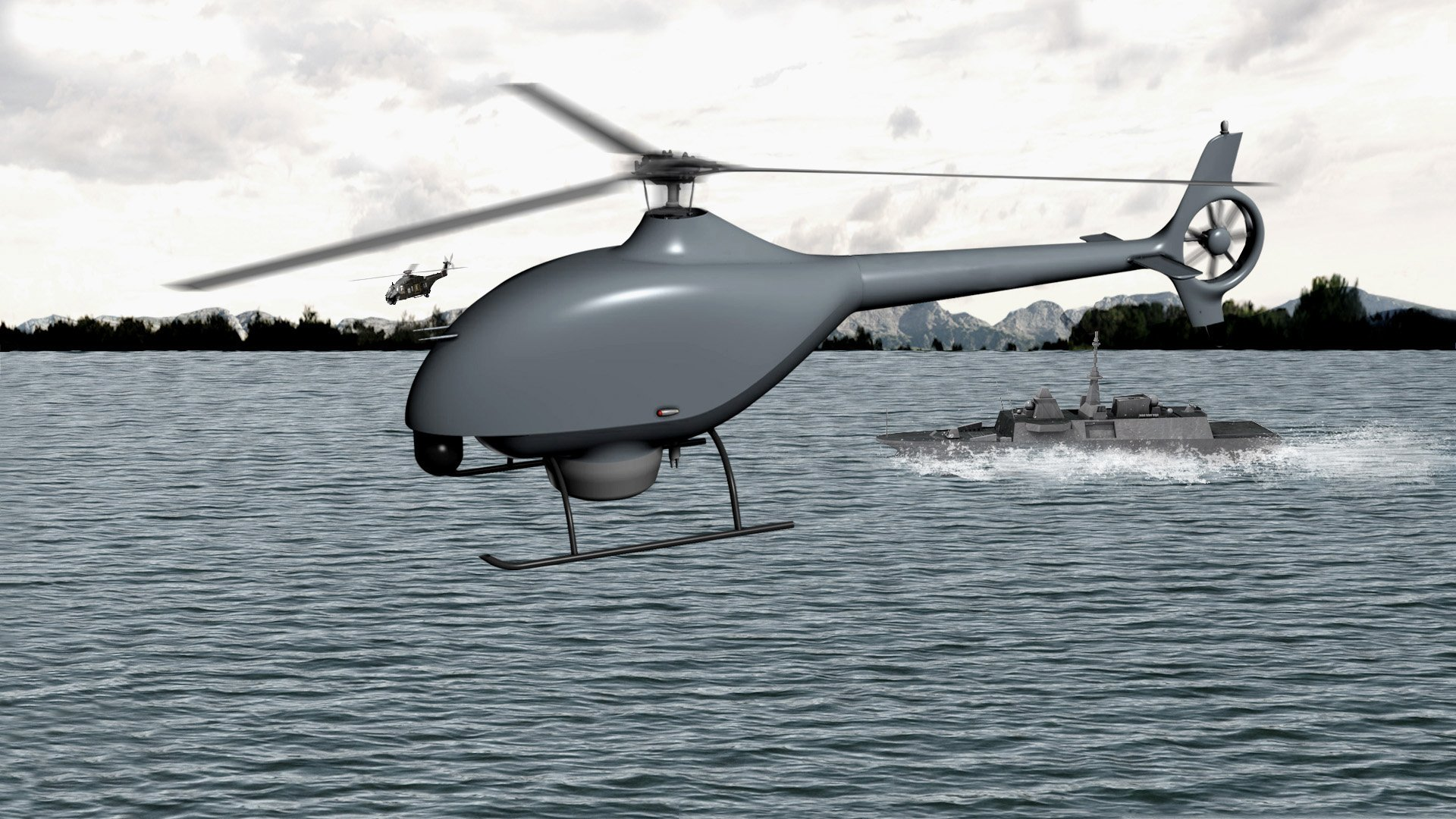 DCNS and Airbus Helicopters join forces to design the French Navy's future tactical VTOL drone system