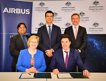 Signature Airbus and Australian Space Agency