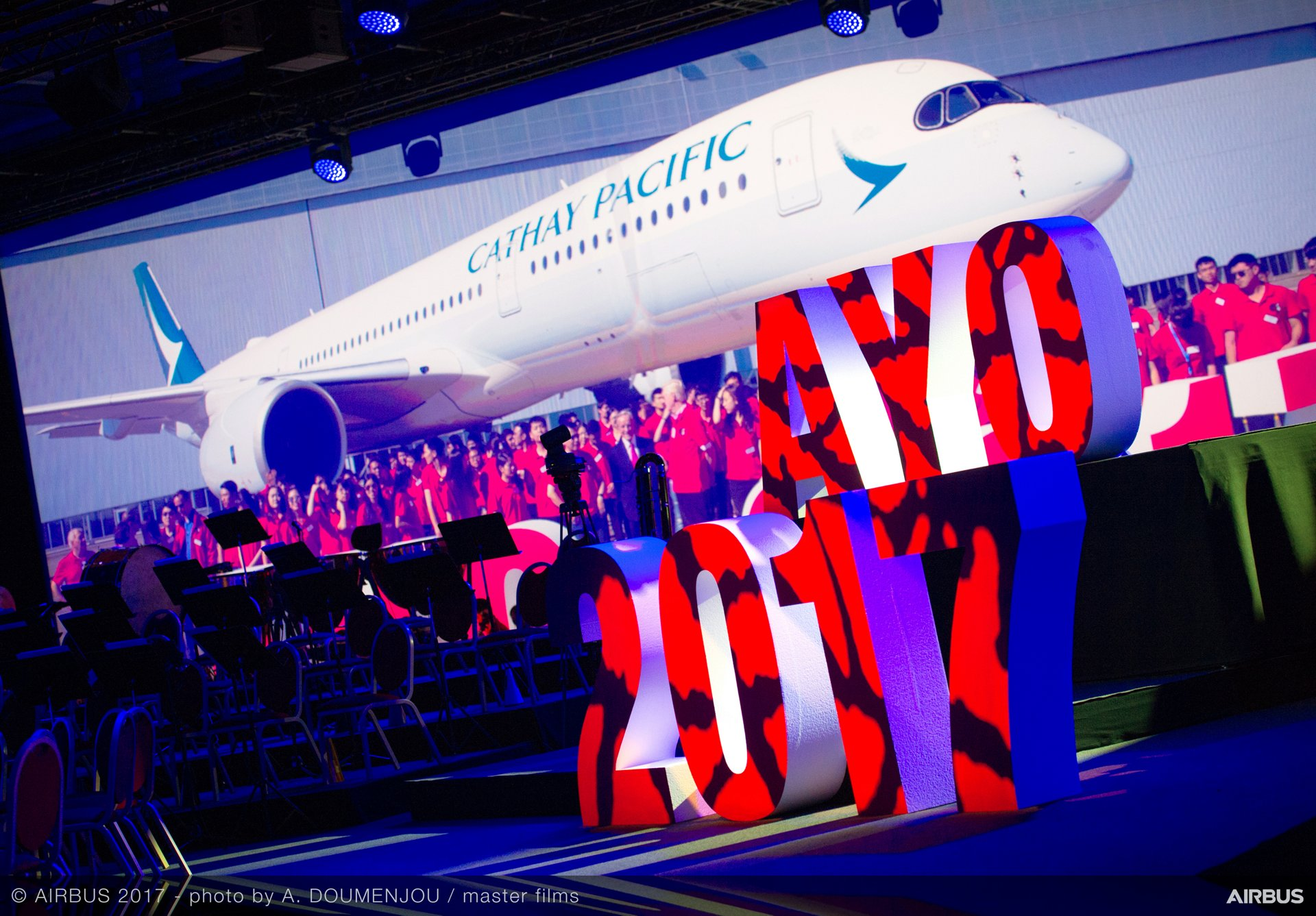 The exceptional partnership between Airbus and Cathay Pacific Airways was marked by a unique concert in Toulouse, France this week that celebrated the 20th anniversary of the Hong Kong Special Administrative Region – and coincided with Cathay Pacific's latest announcement for Airbus jetliners.